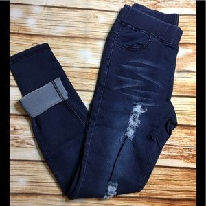 Pants - S❤️ Dark Denim Distressed Skinny Jeggings